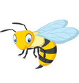 cartoon happy wasp isolated on white background vector image vector image