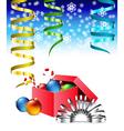 christmas box vector image vector image