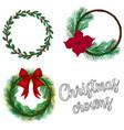 christmas crowns desing set holiday vector image vector image