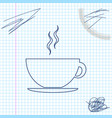 coffee cup line sketch icon isolated on white vector image