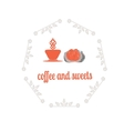 Coffee decorative icons set with drink and sweet vector image vector image