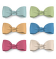 collection pastel colors silk bows vector image