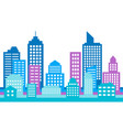 colorful cityscape background modern architecture vector image vector image
