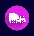 Concrete mixer icon button logo symbol concept