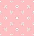 cute floral seamless pattern for girls vector image vector image