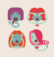 cute monster girls vector image