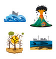design natural and disaster logo set of vector image