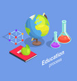 educational process collection scientific objects vector image vector image