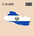el salvador map border with flag eps10 vector image