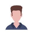 faceless man avatar vector image vector image