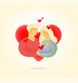 father mother and child in love with hearts vector image