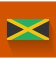 flat flag jamaica vector image vector image