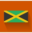 Flat flag of Jamaica vector image vector image