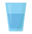 flat icon glass of water vector image vector image