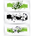 Floral spring elements and flowers vector image