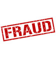 fraud stamp vector image vector image