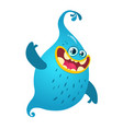 funny cartoon ghost vector image