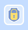 golden closed padlock icon confidential vector image