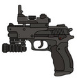 handgun with a laser sightseeing vector image vector image