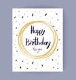 happy birthday to you congrats vector image vector image
