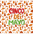 happy cinco de mayo greeting card hand lettering vector image vector image