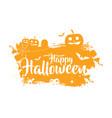 happy halloween typographic banner vector image vector image