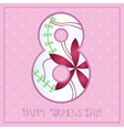 Happy womens day card with gradient figure vector image vector image
