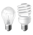 incandescent and fluorescent energy saving light b vector image