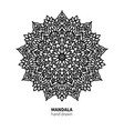 mandala flower drawing decorative boho vector image