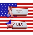 modern memorial day banners vector image