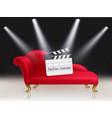 online cinema concept vector image vector image