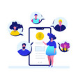 online meeting - flat design style colorful vector image vector image