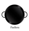paellera empty vector image vector image
