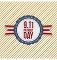 Patriot Day circle Emblem with Ribbon vector image vector image
