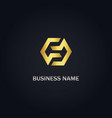 polygon connect company gold logo vector image vector image