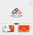 real estate home creative logo template with vector image vector image
