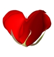 Red rose-heart on the white background EPS 10 vector image vector image