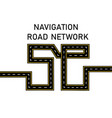 road highway stylized inscription 5 g vector image vector image
