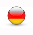 Round icon with national flag of Germany vector image vector image