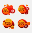 Sale badges with liquid color abstract shape
