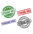 scratched textured storage area stamp seals vector image vector image