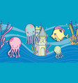 sea animals cartoons vector image vector image