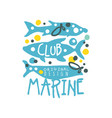 sea club logo original design with abstract vector image vector image