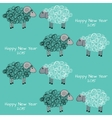 Seamless christmas pattern with sheeps vector image vector image