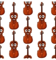 Seamless pattern of classical violins vector image vector image