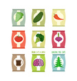Set packs chips Packaging unusual flavour coffee vector image