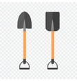 Shovel isolated on checked background vector image vector image