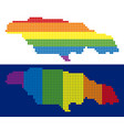 spectrum pixel dotted jamaica map vector image