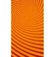 Spiral Orange Striped Abstract Tunnel Background vector image vector image