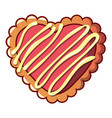 striped biscuit icon cartoon style vector image vector image